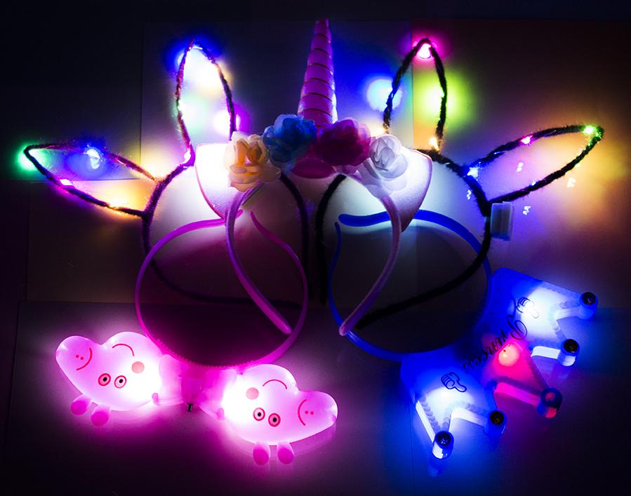 Светящиеся ободки, рожки, обручи оптом фото 15