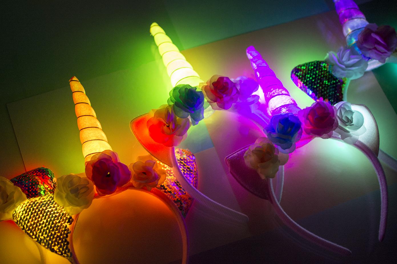 Светящиеся рожки, бантики, ободки, обручи оптом фото 21