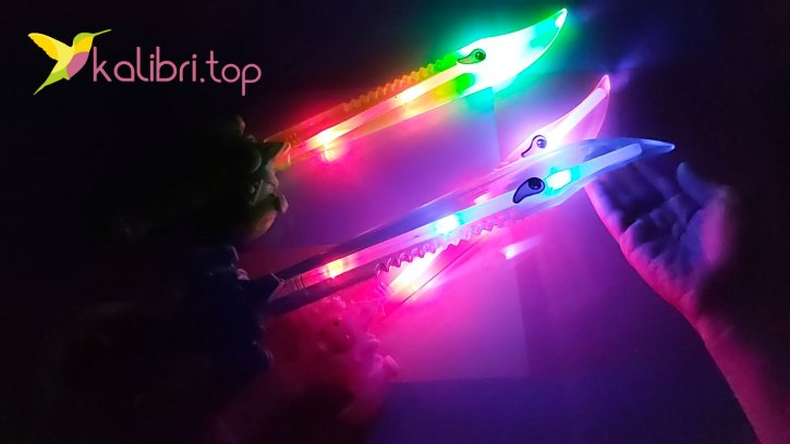 Детский светящийся меч акула оптом изображения 2