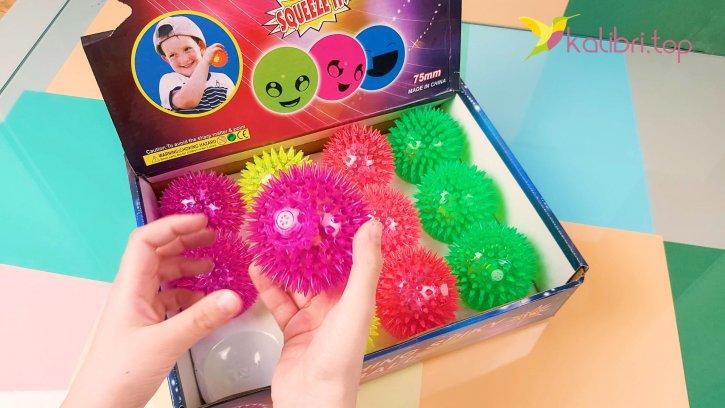 Мячики ёжики светящиеся оптом изображения 2