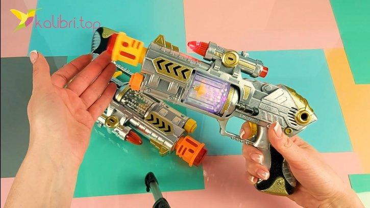 Светящийся, игрушечный пистолет оптом изображения 2