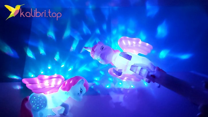 Светящийся микрофон Единорог маленький оптом изображения 2