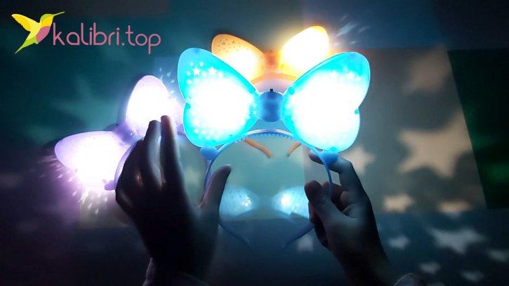 Детский светящийся ободок Микки Маус оптом изображение 2