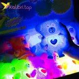 Игрушка антистресс мишки силиконовые светящиеся оптом фото 2