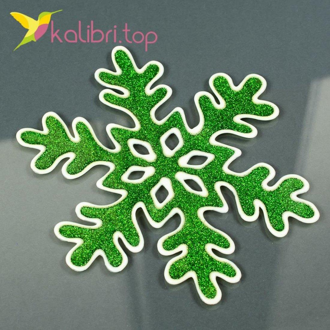 Новогодние силиконовые наклейки на окна Снежинки оптом фото 125