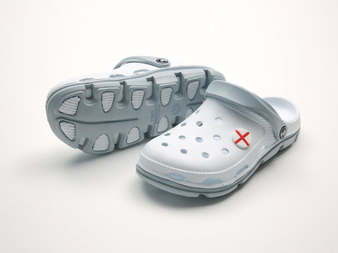 Белые кроксы оптом C09-45, 4rest, мужская обувь оптом, фото 3
