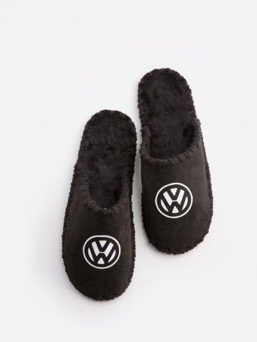 Мужские домашние тапочки Volkswagen черные закрытые, Family Story - 1