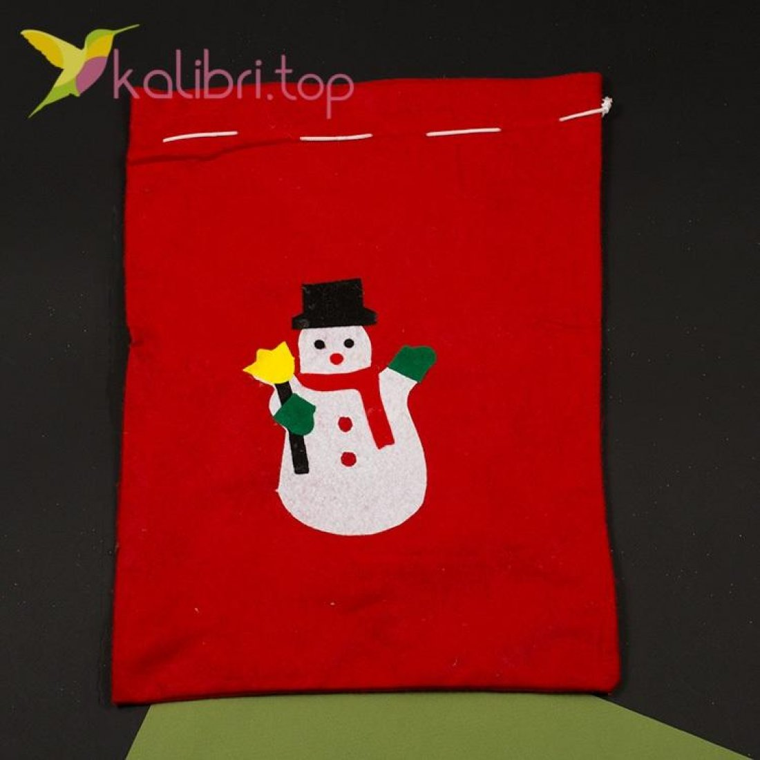 Мешок для подарков средний микс, оптом фото 3