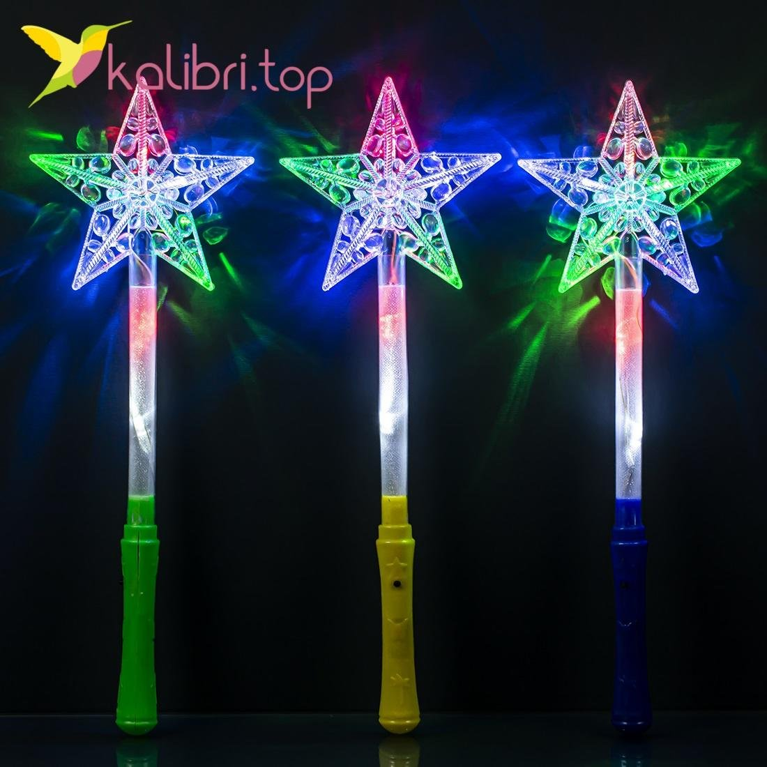 Светящиеся палочки звезда прозрачная оптом фото 214