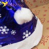 Шапки Деда Мороза синяя HQ-1648 оптом фото 8777