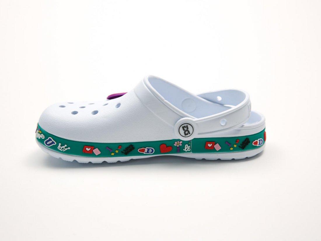 Белые кроксы оптом C17-34, 4rest, детская обувь оптом, фото 1