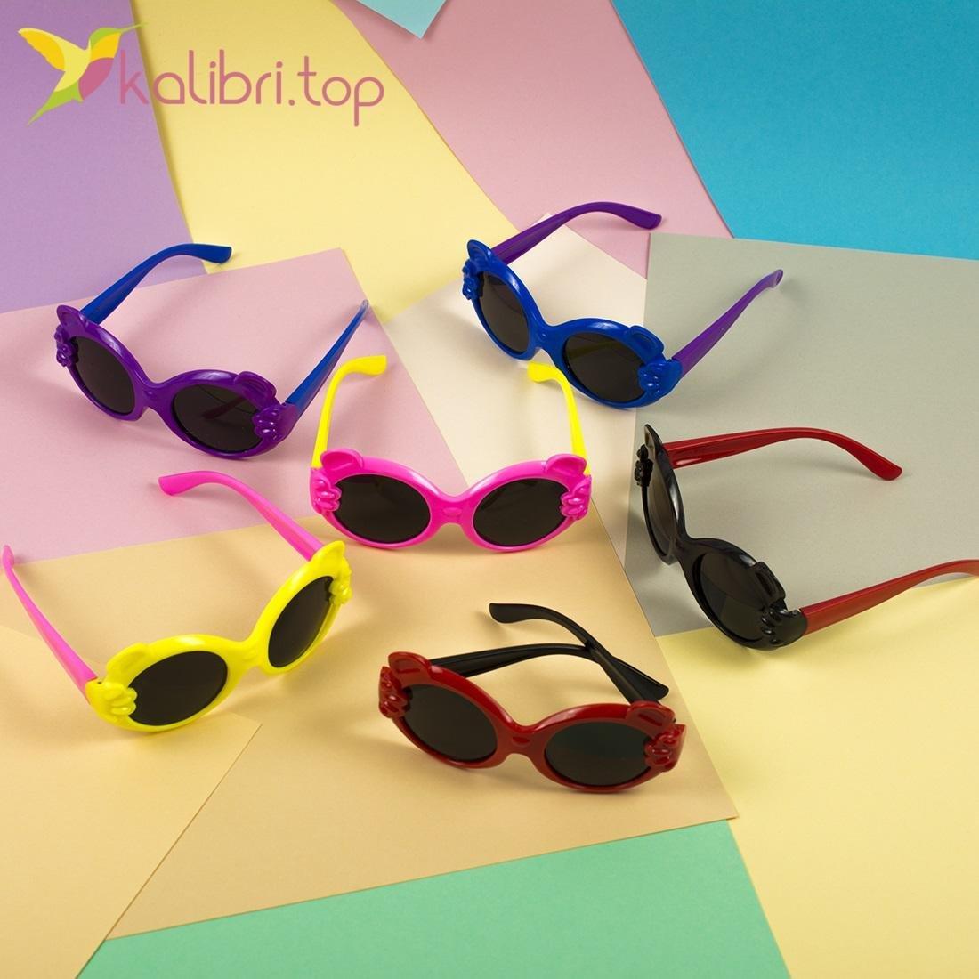 Детские солнцезащитные очки Ушки, оптом - фото 2