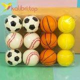 Мячики мягкие, поролоновые микс 6,3 см оптом фото 1