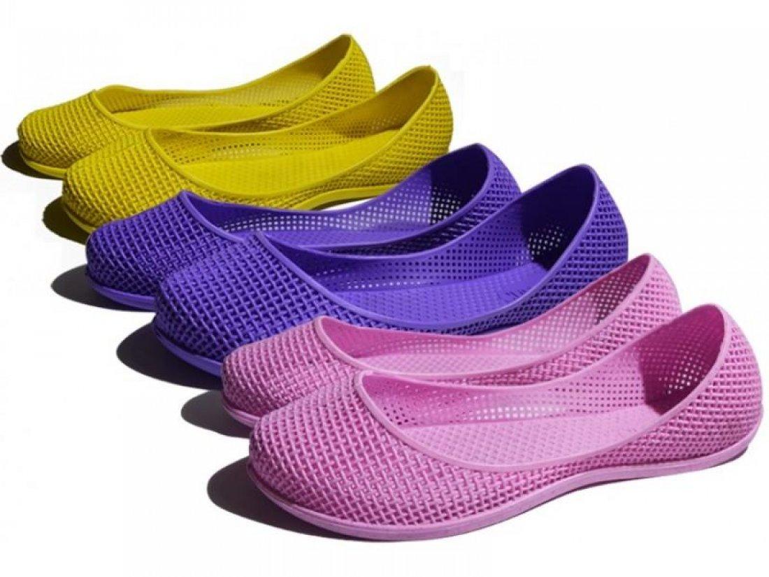 Женские балетки оптом 0119 ПВХ микс, 4rest, обувь оптом