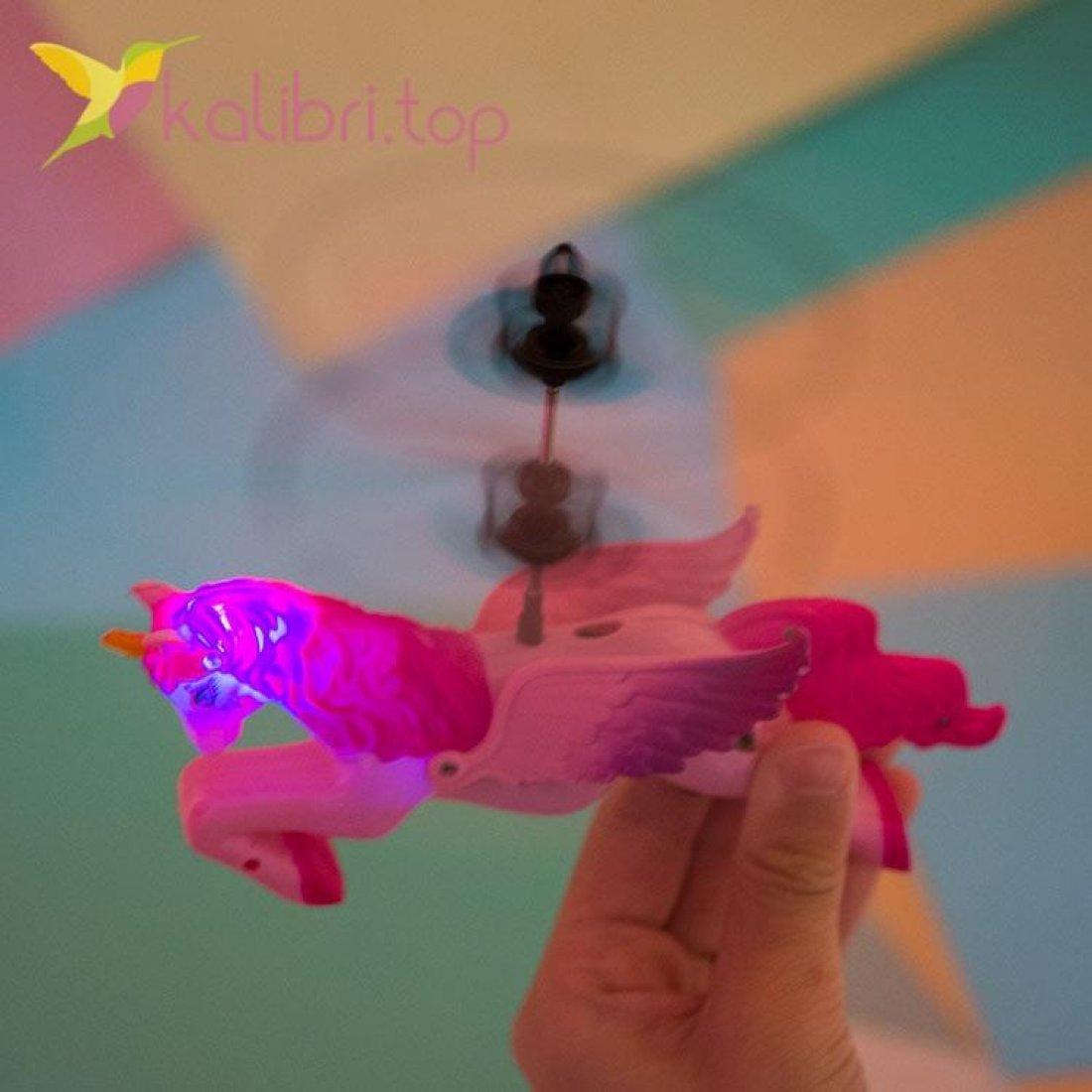 Летающий, светящийся единорог розовый, оптом фото 2