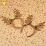 Новогодний обруч оленьи рожки с колокольчиками оптом фото 174