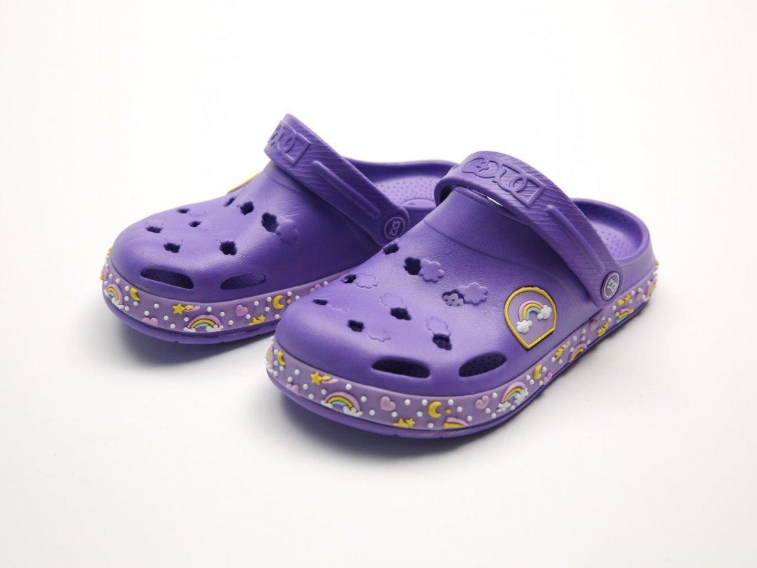 Сиреневые кроксы оптом C16-34, 4rest, детская обувь оптом, фото 2