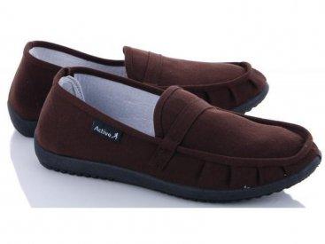 Женские мокасины оптом 20-40 W коричневые, 4rest, обувь оптом