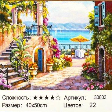 Рисования по номерам Дворик 40*50 см оптом фото 74