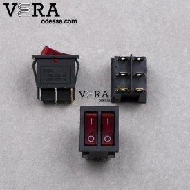 Купить кнопку для бытовой техники 6 клемм 2 клавиши оптом, фотография 1