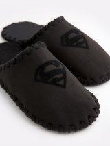 Мужские домашние тапочки Superman черные закрытые, Family Story - 3