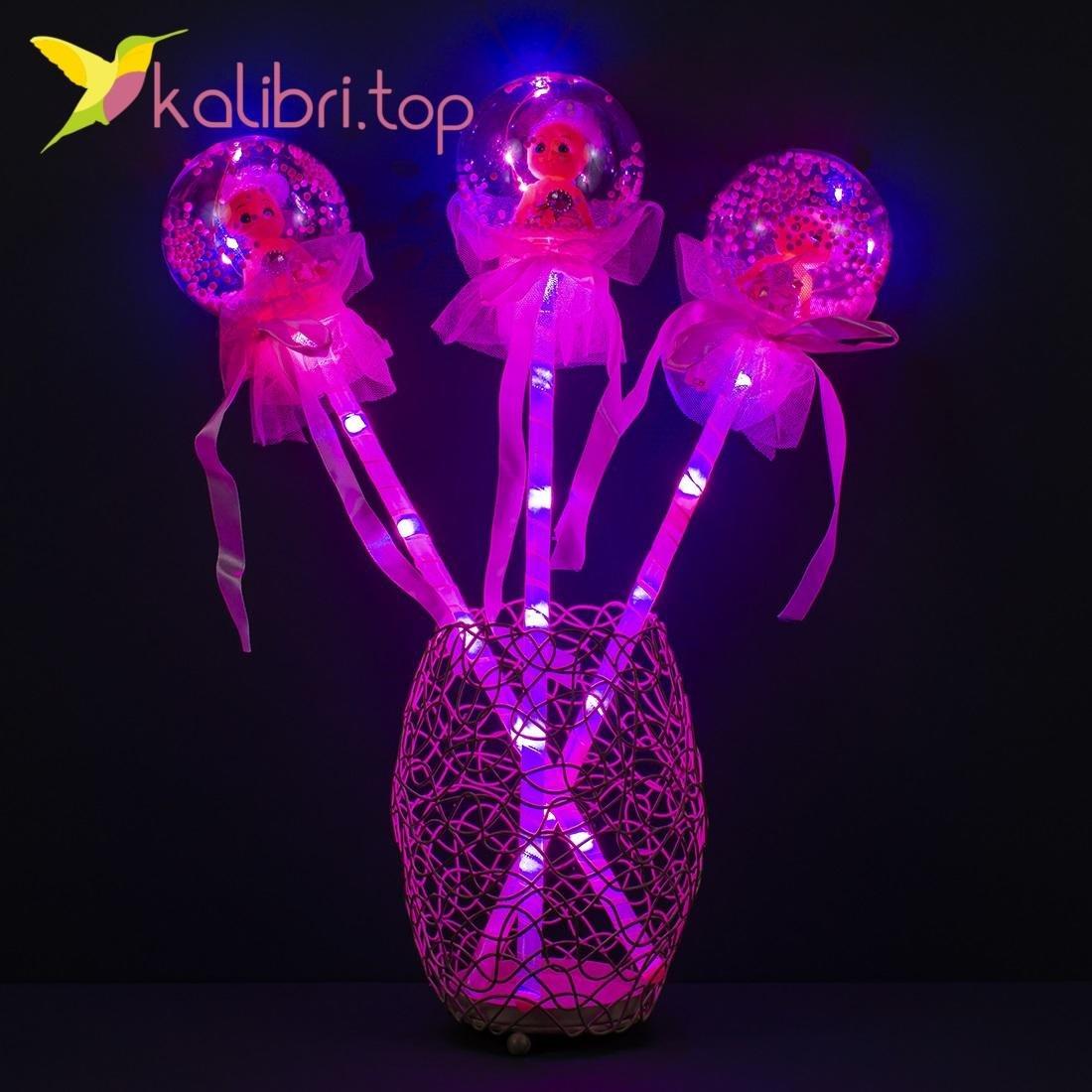 Светодиодные палочки куколки розовый оптом фото 985