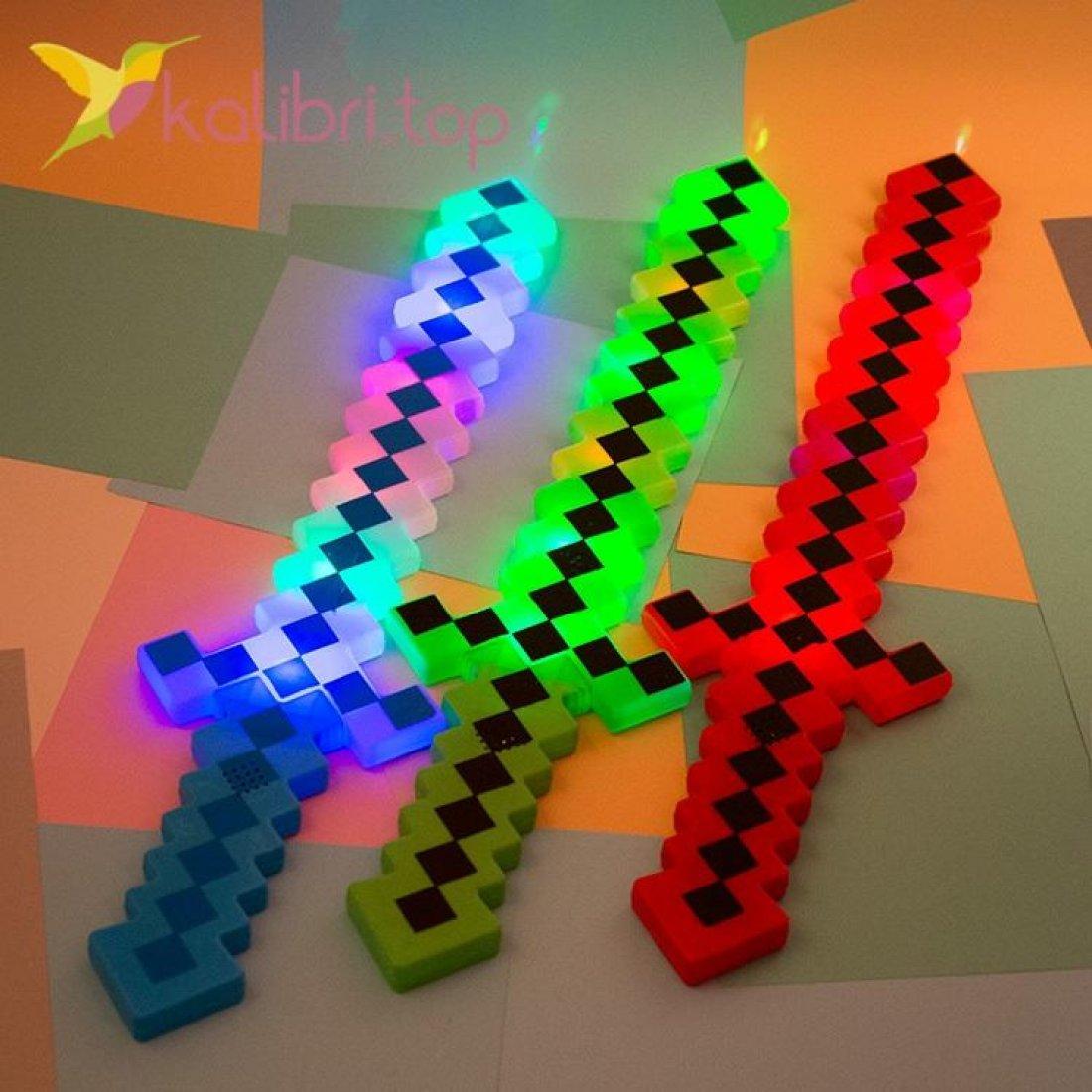 Меч Майнкрафт (Minecraft) светящийся оптом фото 2