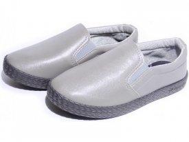 Детские слипоны оптом 11-101 С серые, 4rest, обувь оптом - фото 1