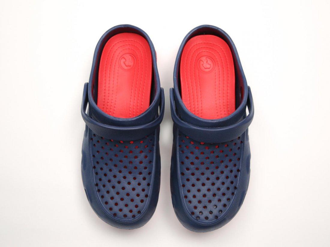Синие кроксы оптом C22-45, 4rest, мужская обувь оптом, фото 2