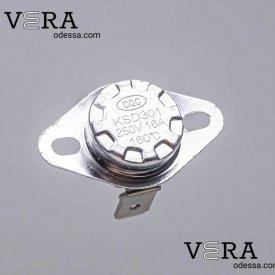 Купить термореле KSD-301 160°C - 16 А клеммы загнуты оптом, фотография 1