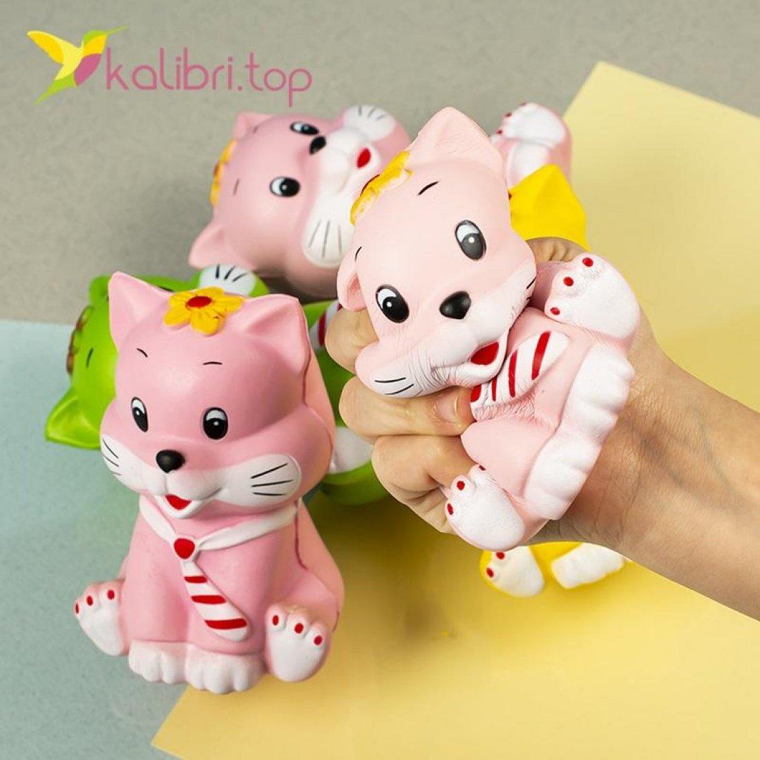 Детская игрушка сквиш Котик оптом фото 633