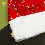 Новогодняя шапка Деда Мороза снежинки, оптом фото 2