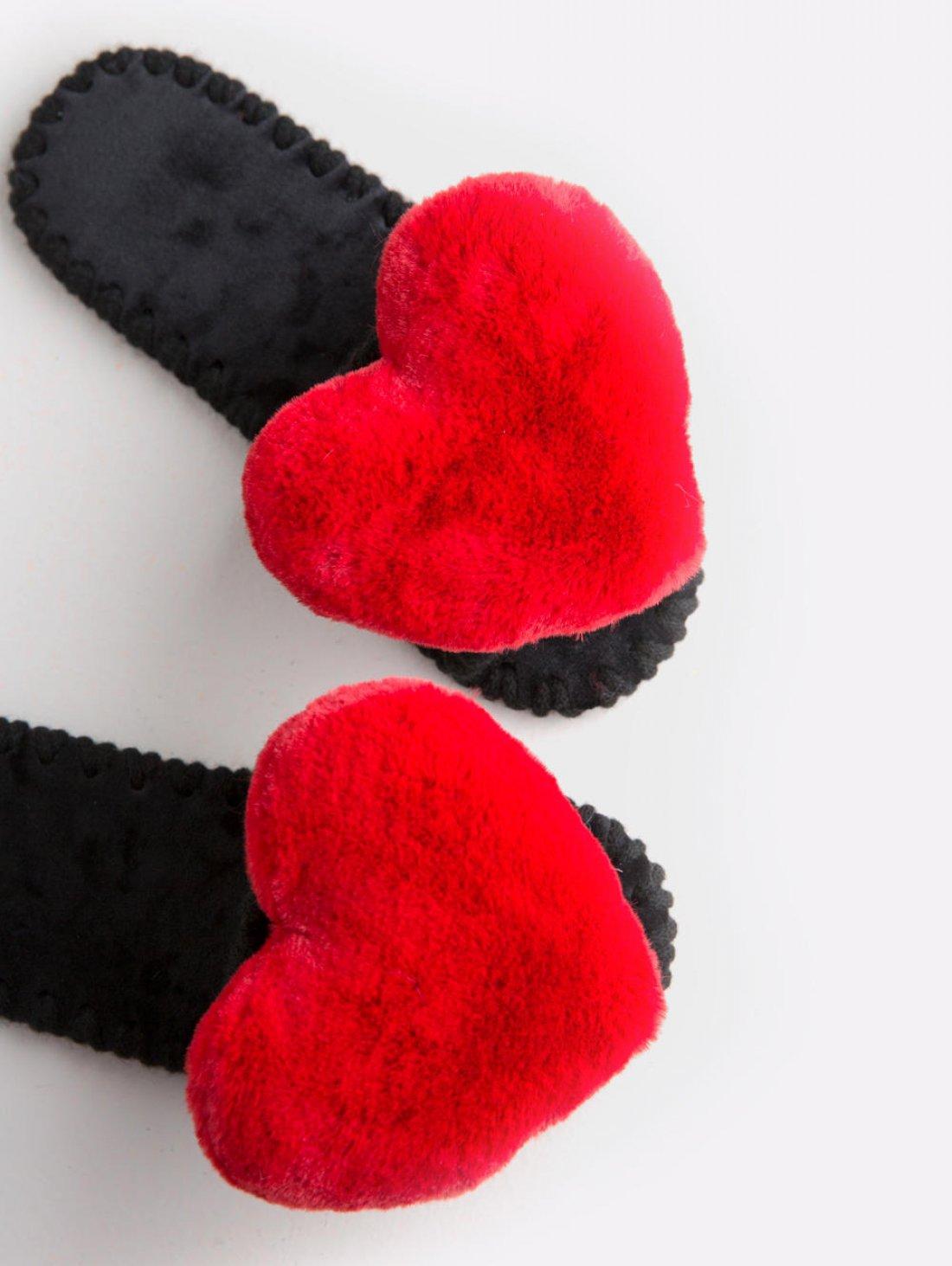 Женские домашние тапочки с сердечками цвета Кардинал, Family Story - 3