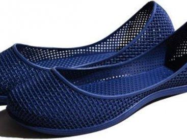 Женские балетки оптом 0519 ПВХ синие, 4rest, обувь оптом