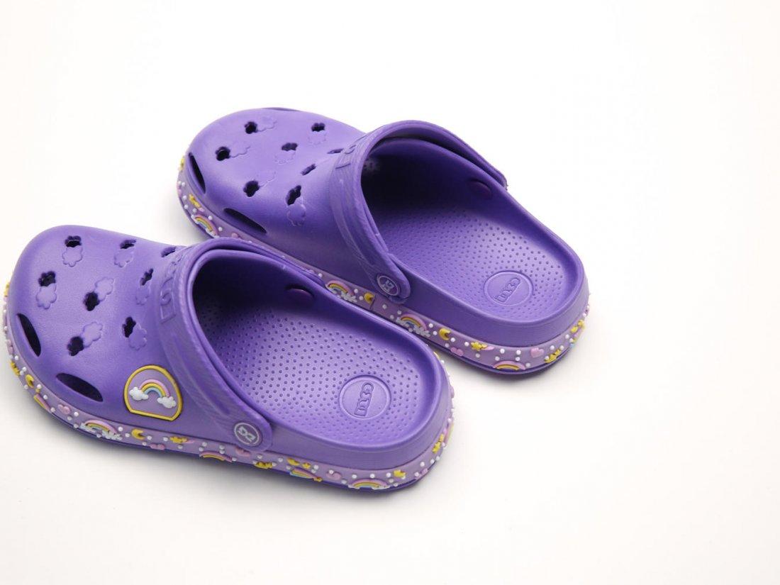 Сиреневые кроксы оптом C16-34, 4rest, детская обувь оптом, фото 3