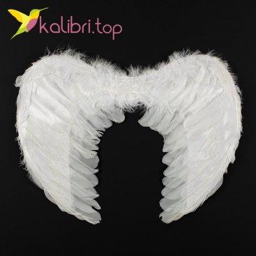 Крылья ангела с пухом белые оптом фото 55