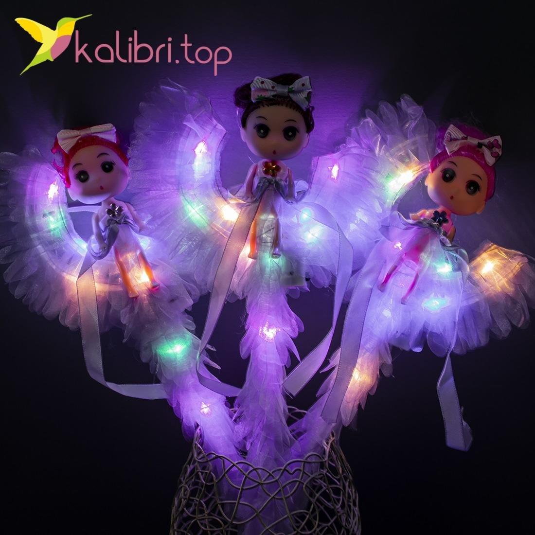 Светящиеся палочки девочки на луне фиолетовые оптом 912