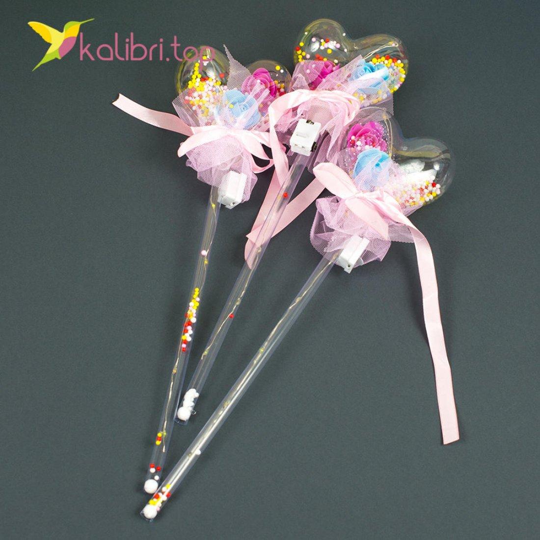 Светящиеся палочка сердечко розовое оптом фото 3