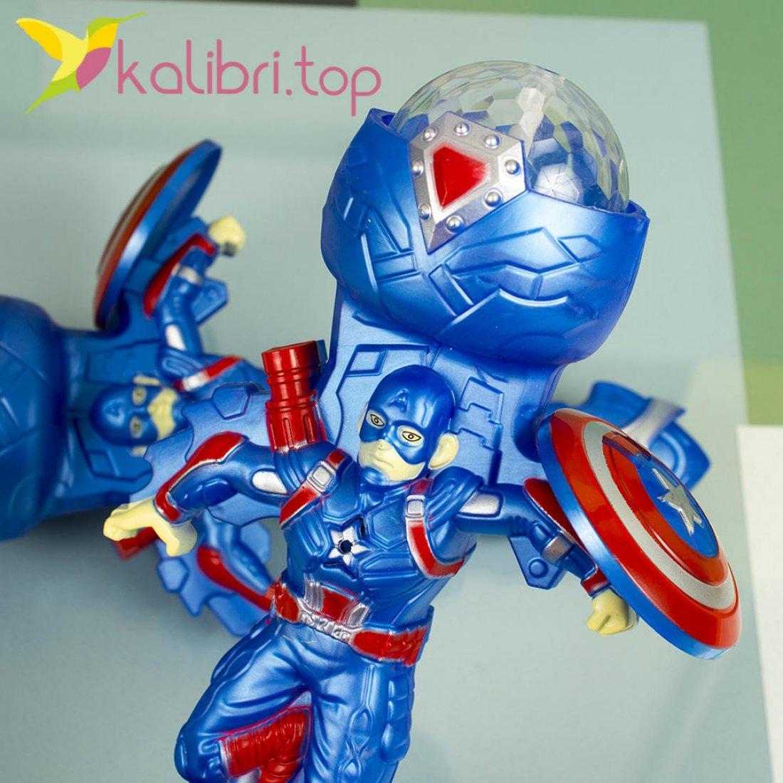 Игрушечный светящийся микрофон Капитан Америка оптом фото 1