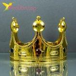 Карнавальная корона Короля золото оптом фото 548