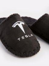 Мужские домашние тапочки Tesla черные закрытые, Family Story - 3