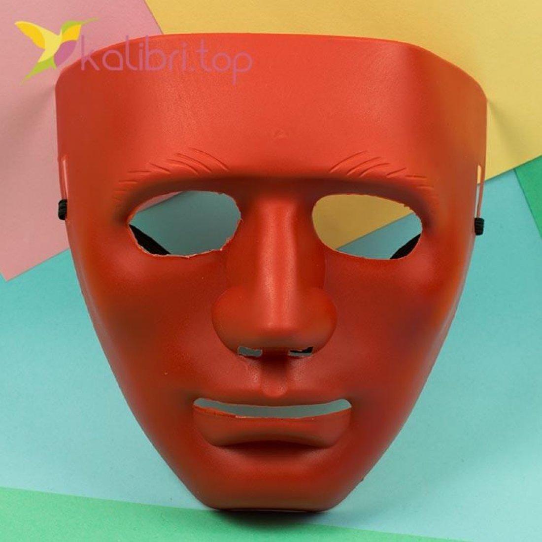 Маска карнавальная Каонаси красная, оптом фото 1