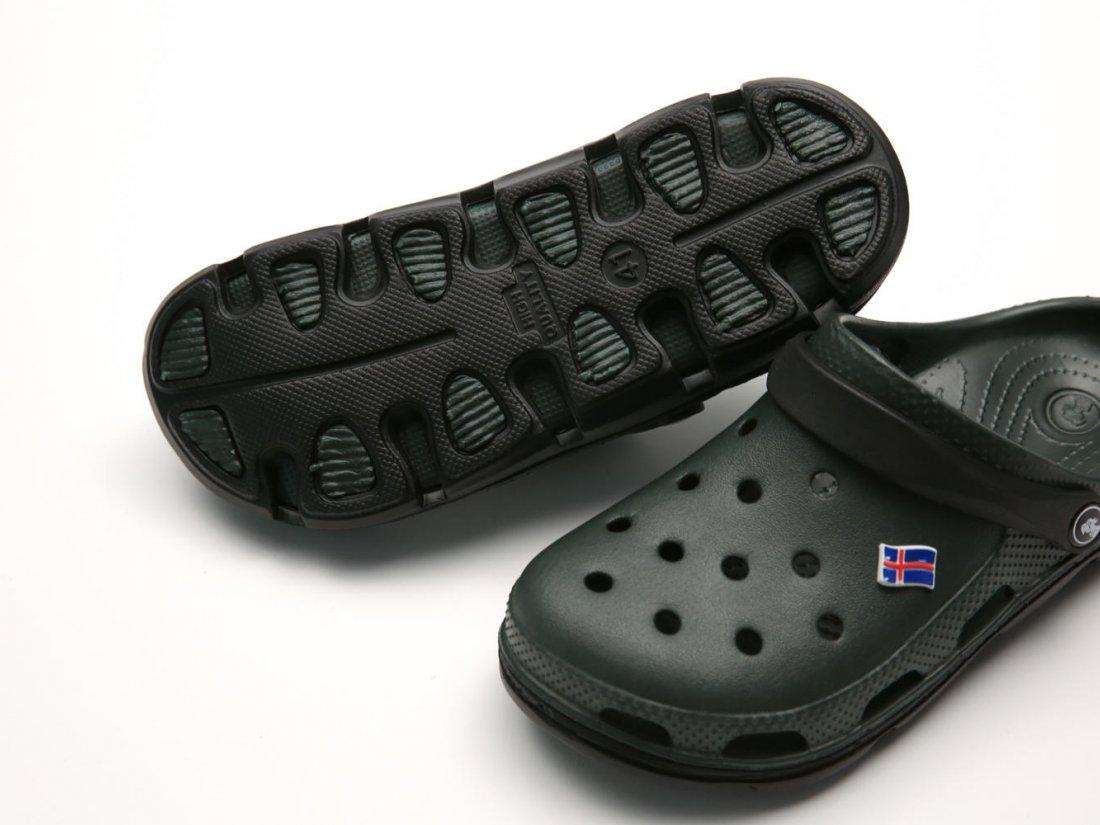 Черные кроксы оптом C18-45, 4rest, мужская обувь оптом, фото 4