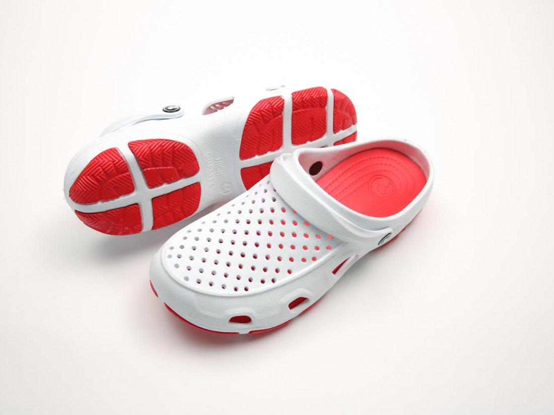 Белые кроксы оптом C04-45, 4rest, мужская обувь оптом, фото 3
