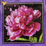 Алмазная мозаика по номерам Красный Цветок 30*30 см оптом фото 737