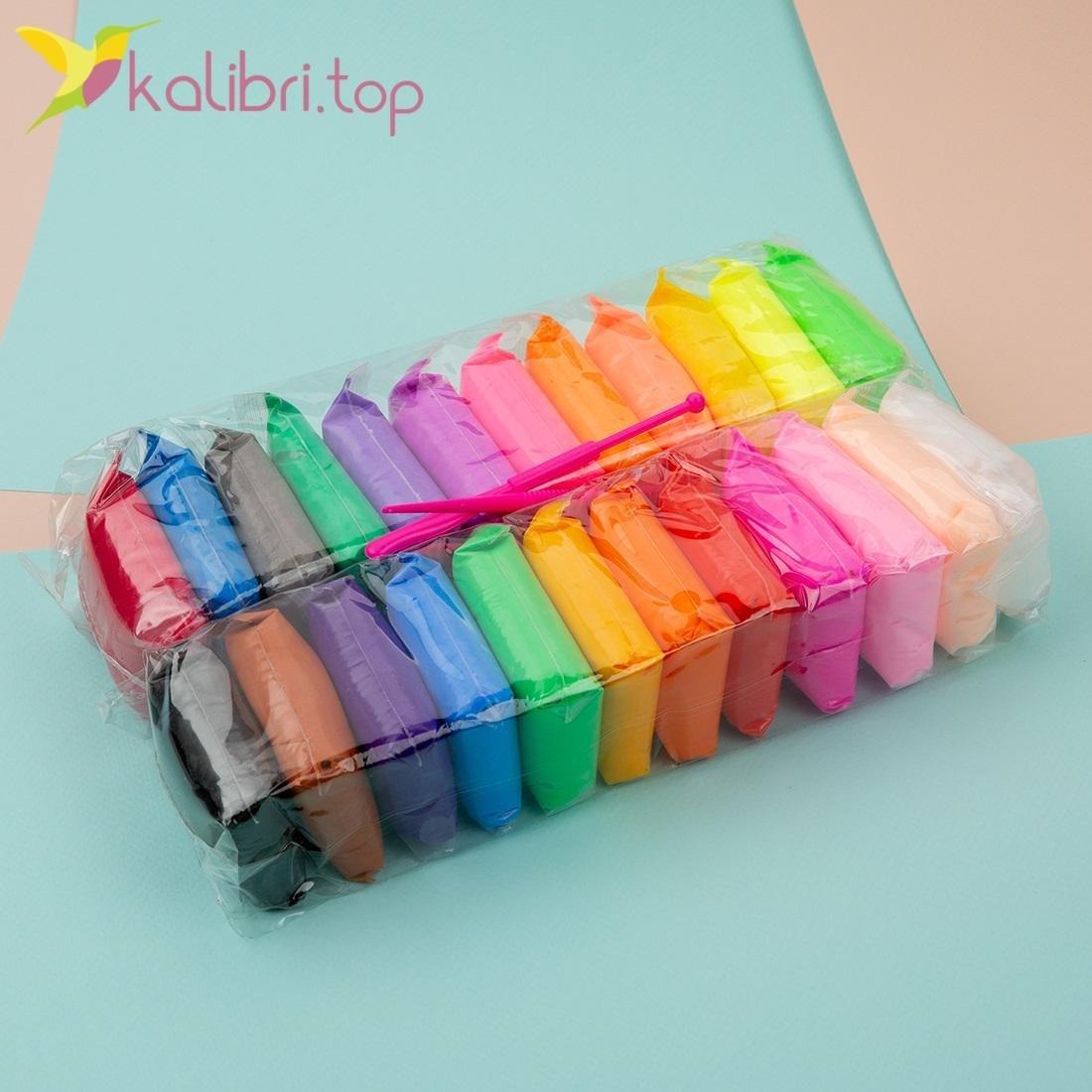 Воздушный пластилин из 24 цветов - фото 1