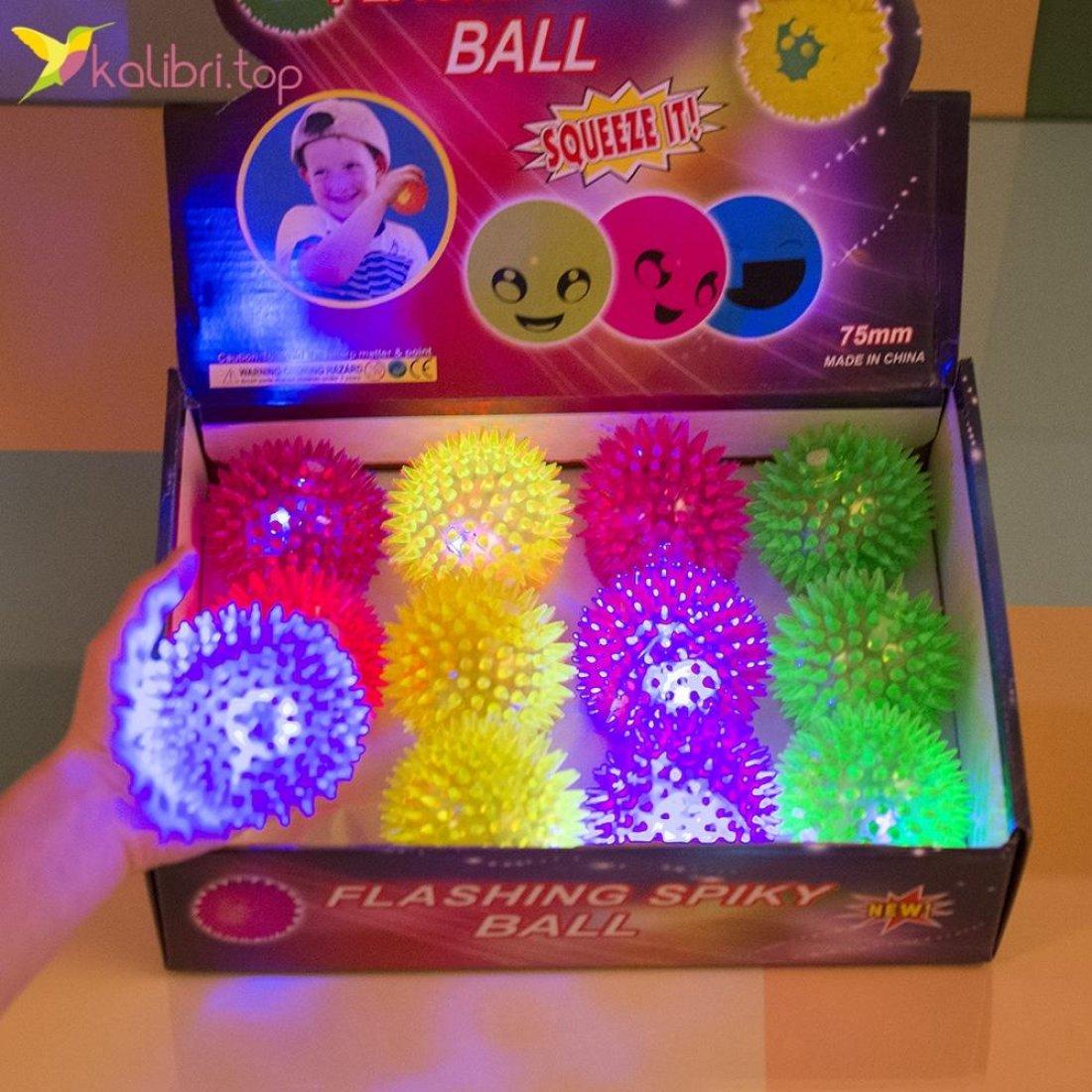 Мячики ёжики светящиеся оптом фото 2