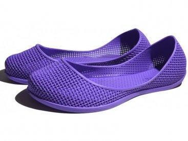 Женские балетки оптом 1219 ПВХ фиолетовые, 4rest, обувь оптом