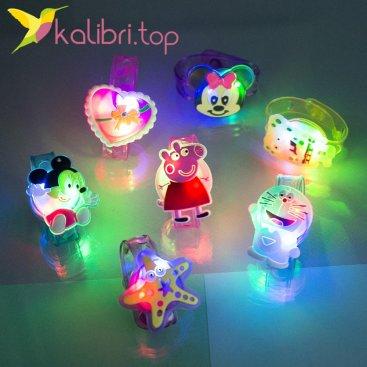 Детские светящиеся браслеты Микс героев оптом фото 1