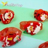 Детский светящийся силиконовый браслет Дед Мороз оптом фото 2